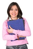 Casual female student in pink Royalty Free Stock Photos