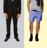Casual and formal wear Royalty Free Stock Images