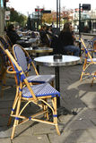 Casual French. Outdoor seating on a street in Nantes, France Royalty Free Stock Photography