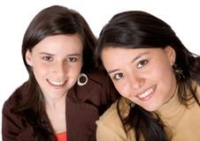 Casual friends in brown colours Stock Images