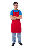 Casual full length portrait of male chef Stock Image