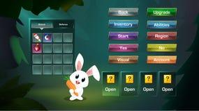 Free Casual Fun Game Screens With Popup Bar Menu. Stock Photos - 220141073