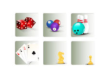 Casual games icons set Royalty Free Stock Photography
