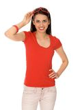 Casual girl Stock Images
