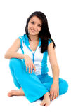 Casual girl in gym clothes Royalty Free Stock Photo