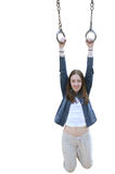 Casual girl hanging Stock Photography