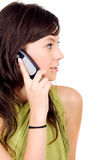 Casual girl on the phone Royalty Free Stock Photo