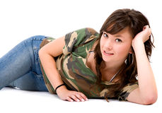Casual girl portrait Royalty Free Stock Image