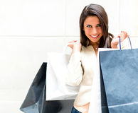 Casual girl shopping Stock Photo