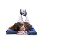 Casual girl sleeping Royalty Free Stock Images