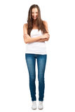 Casual girl smiling Royalty Free Stock Image