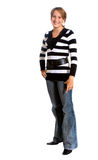 Casual girl standing Stock Photography