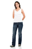 Casual girl standing Royalty Free Stock Photo