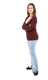 Casual girl standing Royalty Free Stock Photography