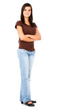 Casual girl standing Stock Images