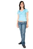 Casual girl standing - full body Royalty Free Stock Images