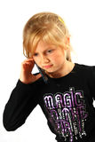 Casual girl talking Stock Photo