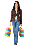 Casual girl walking Stock Photo