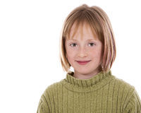 Casual girl on white background Stock Photo