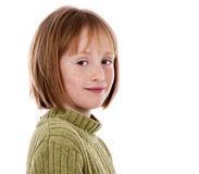 Casual girl on white background Royalty Free Stock Photo