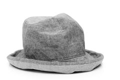 Casual gray hat isolated Royalty Free Stock Photo