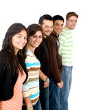 Casual group of casual students smiling Royalty Free Stock Image
