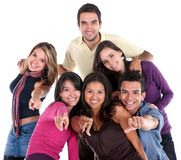 Casual group of friends Stock Photography