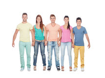 Casual group of friends Royalty Free Stock Photography