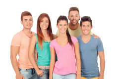 Casual group of friends Royalty Free Stock Image