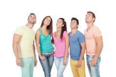 Casual group of friends Stock Images