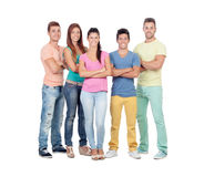Casual group of friends Stock Image