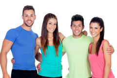 Casual group of friends Royalty Free Stock Images