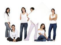 Casual group of girls Royalty Free Stock Photos