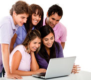 Casual group with laptop Stock Photos