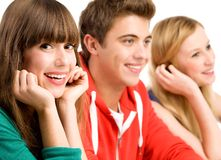 Casual group in a row Stock Photo
