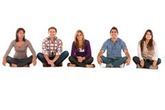 Casual group of seated people Stock Photos