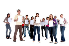 Casual group - sign Stock Image
