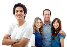 Casual group smiling Stock Photography