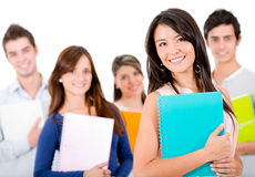 Casual group of students Royalty Free Stock Photo