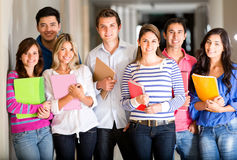 Casual group of students Stock Photos