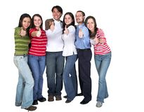 Casual group - thumbs up Stock Images