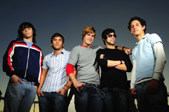 Casual group of young boys Stock Image