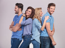 Casual group of young people having fung and laugh Stock Image