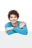 Casual Guy with Arms Crossed over Copy Space area Royalty Free Stock Photo