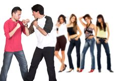 Casual guy competition Stock Images