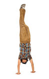 Casual guy doing the handstand Stock Photography