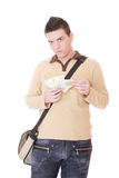 Casual guy isolated over white background Stock Photography