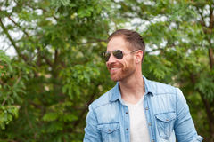 Casual guy relaxed in a park Stock Photo