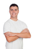Casual guy smiling with blue eyes Royalty Free Stock Image