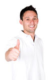 Casual guy thumbs up Stock Photos